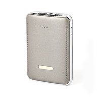 LUXURY DUAL POWER BANK, WITH 2.0A QC QUICK CHARGE OPTION , LED TORCH, 6600/7800 mAh